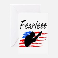 FEARLESS DIVER Greeting Card