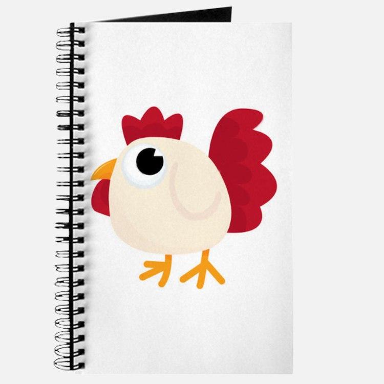 Funny White Chicken Journal