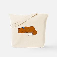 Dog Sleeping Tote Bag