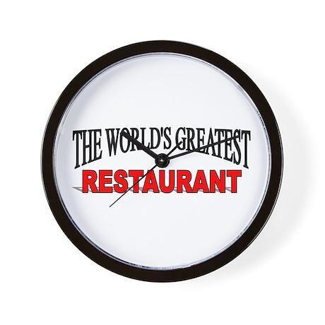 """The World's Greatest Restaurant"" Wall Clock"