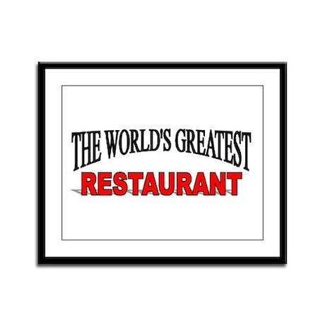"""""""The World's Greatest Restaurant"""" Framed Panel Pri"""