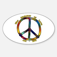 Summer of Love 1967 Oval Decal