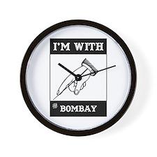 I'm With The Bombay Wall Clock