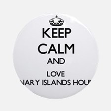 Keep calm and love Canary Islands Ornament (Round)