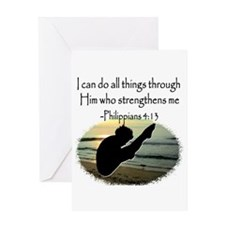 DIVER PRAYER Greeting Card