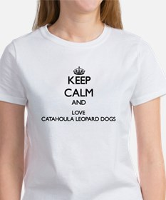 Keep calm and love Catahoula Leopard Dogs T-Shirt