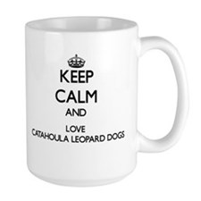 Keep calm and love Catahoula Leopard Dogs Mugs