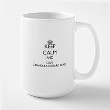 Keep calm and love Catahoula Leopard Dogs Mugs