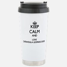 Keep calm and love Cata Stainless Steel Travel Mug