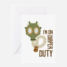 Diaper Duty Greeting Cards