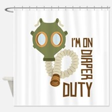 Diaper Duty Shower Curtain