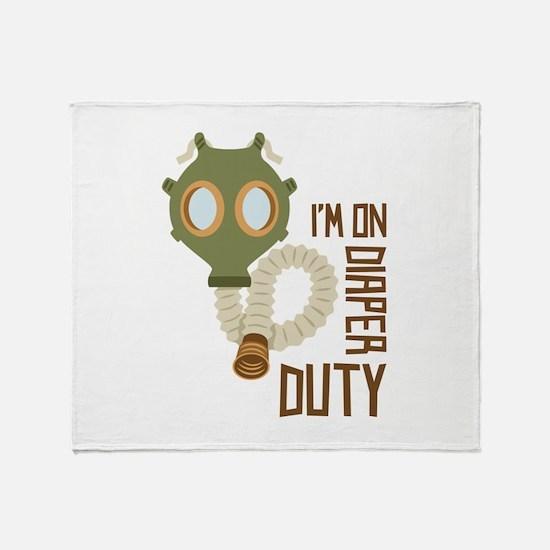 Diaper Duty Throw Blanket