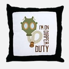 Diaper Duty Throw Pillow