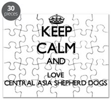 Keep calm and love Central Asia Shepherd Do Puzzle
