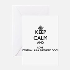 Keep calm and love Central Asia She Greeting Cards