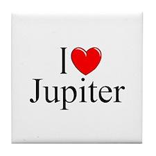 """""""I Love Jupiter"""" Tile Coaster"""