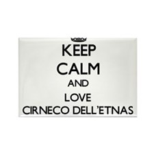 Keep calm and love Cirneco Dell'Etnas Magnets