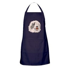 Old English Sheepdog Apron (dark)