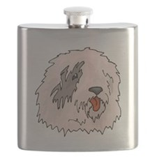 Old English Sheepdog Flask