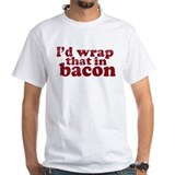 Bacon Mens White T-shirts