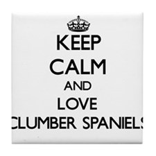 Keep calm and love Clumber Spaniels Tile Coaster