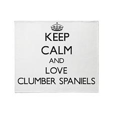 Keep calm and love Clumber Spaniels Throw Blanket