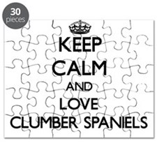 Keep calm and love Clumber Spaniels Puzzle