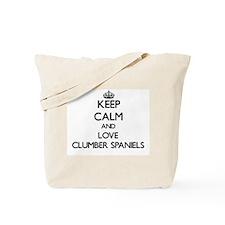 Keep calm and love Clumber Spaniels Tote Bag