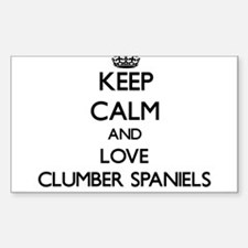 Keep calm and love Clumber Spaniels Decal