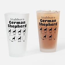 Stubborn Shepherd v2 Drinking Glass