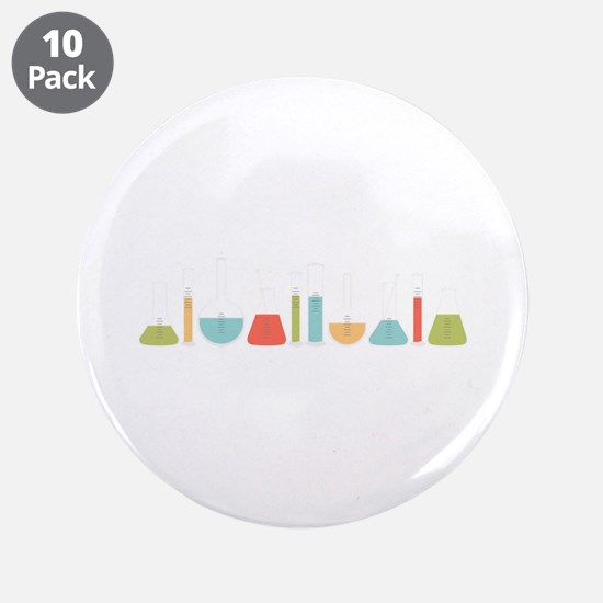 """Science Beakers 3.5"""" Button (10 pack)"""