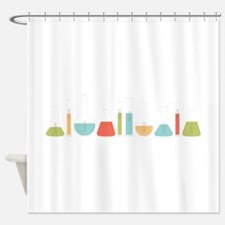 Science Beakers Shower Curtain