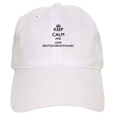 Keep calm and love Deutsch Drahthaars Baseball Cap