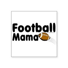 "Cute College football Square Sticker 3"" x 3"""