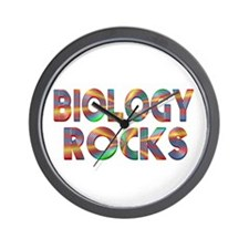 Biology Rocks Wall Clock