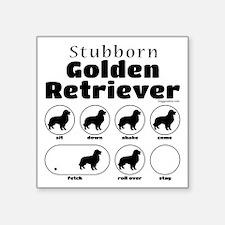 """Stubborn Golden v2 Square Sticker 3"""" x 3"""""""