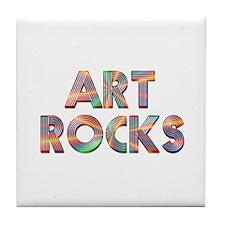 Art Rocks Tile Coaster