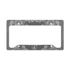 Music, Clef with key notes License Plate Holder