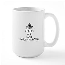 Keep calm and love English Pointers Mugs