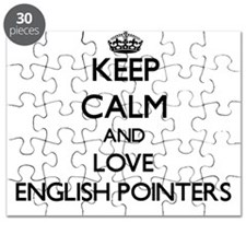 Keep calm and love English Pointers Puzzle