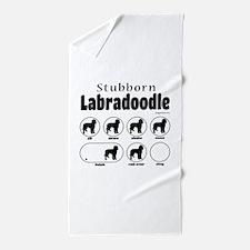 Stubborn Labradoodle v2 Beach Towel