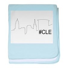 Cute Cleveland baby blanket