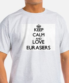 Keep calm and love Eurasiers T-Shirt