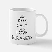 Keep calm and love Eurasiers Mugs