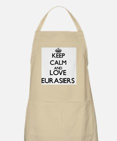 Keep calm and love Eurasiers Apron