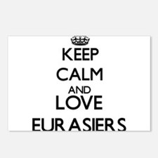 Keep calm and love Eurasi Postcards (Package of 8)