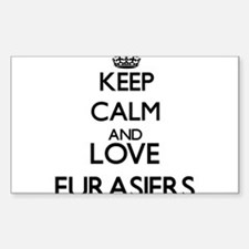 Keep calm and love Eurasiers Decal