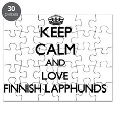 Keep calm and love Finnish Lapphunds Puzzle