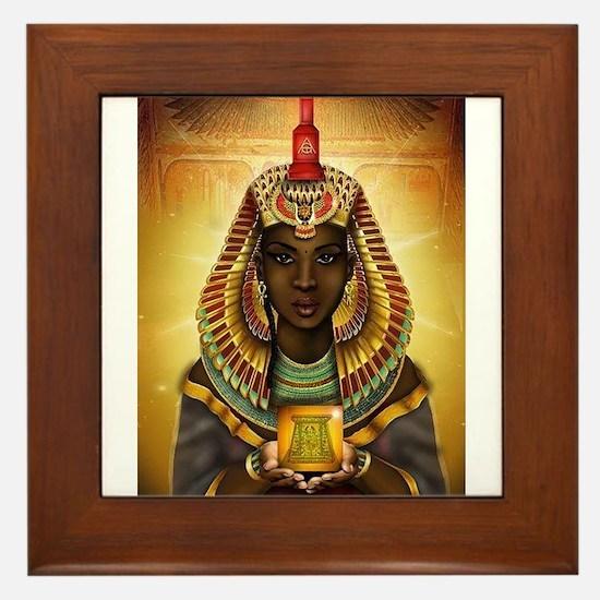 Egyptian Goddess Isis Framed Tile