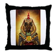 Egyptian Goddess Isis Throw Pillow